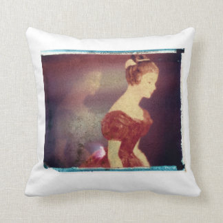 Red Lady by Ann Marie Donahue Throw Pillow