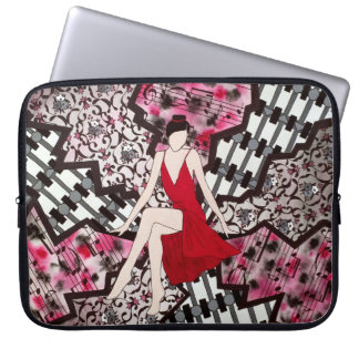 Red Lady Electronic Case Laptop Computer Sleeves