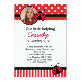 Ladybug Birthday Invitations Announcements Zazzle Canada
