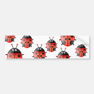 Red Ladybug Bumper Stickers