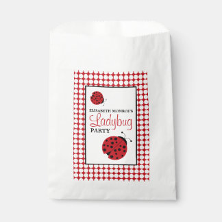 Red Ladybug Children's Birthday Party Favour Bag