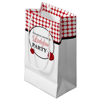 Red Ladybug Children's Birthday Party Small Gift Bag