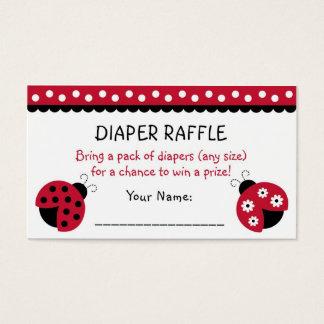 Red Ladybug Diaper Raffle Tickets