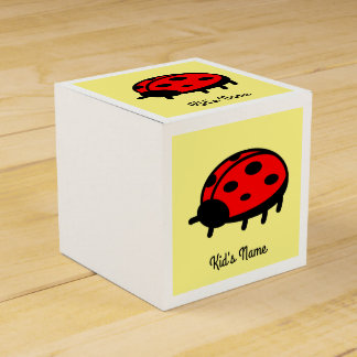 Red ladybug favor boxes