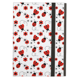 Red Ladybug Lady Bug White Floral Teen Girl iPad Air Case