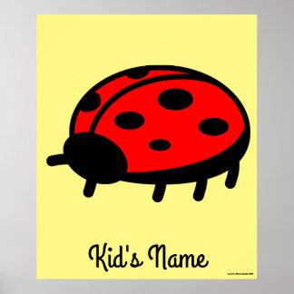 Red ladybug poster