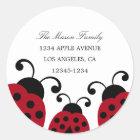 Red Ladybug Return Address Labels