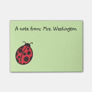 Red Ladybug Teacher's Post It Notes Gift