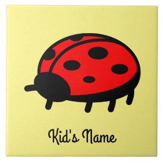 Red ladybug tiles