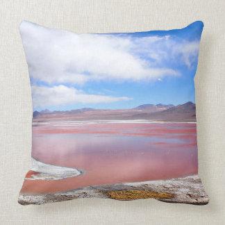 Red Lagoon, Laguna Colorada, Bolivia throw pillow