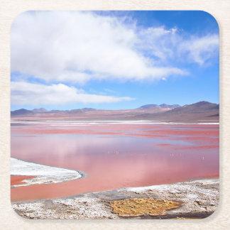 Red Lagoon, Laguna Colorada in Bolivia coaster