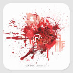 Red lantern Corps Collage Square Stickers