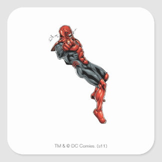 Red Lantern Corps - Rage Leaning 2 Square Sticker