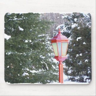 Red Lantern in winter Mouse Pad