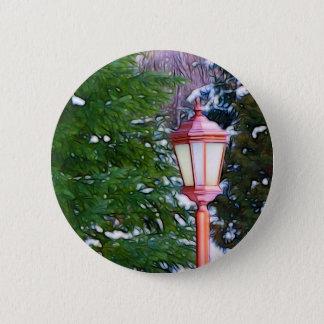 Red Lantern in winter original (Dark) 2 Inch Round Button