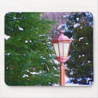 Red Lantern in winter original (Dark) Mouse Pad