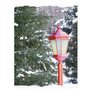 Red Lantern in winter Postcard