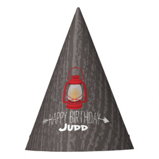 Red Lantern Kids Wilderness Birthday Party Hat
