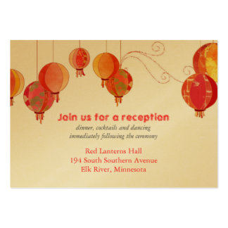 Red Lanterns Wedding Reception Inserts (3.5x2.5) Business Card