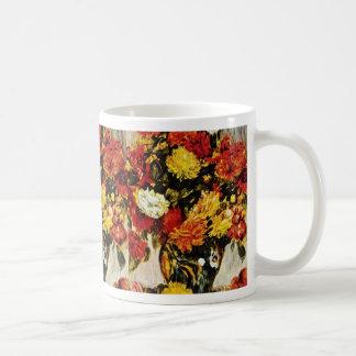 Red Large Bunch of Flowers, Auguste Renoir flowers Coffee Mug