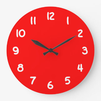 Red Large Clock