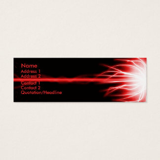 Red Laser Mini Business Card