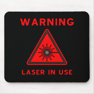 Red Laser Warning Symbol Mousepad