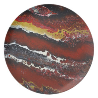 Red Lava Plate