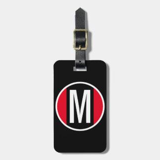 Red Leader Monogrammed Travel Bag Tag