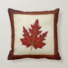 Red Leaf Fall Season Themed Pillow