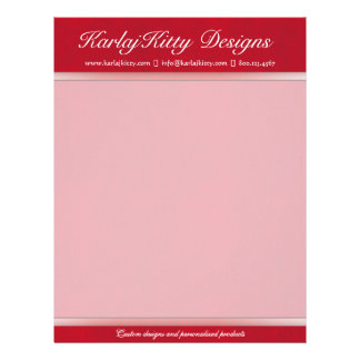 Red Leather Customized Letterhead