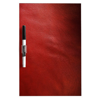 Red leather design dry erase whiteboards