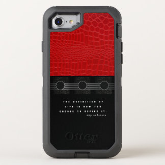 Red Leather Life OtterBox Defender iPhone 7 Case