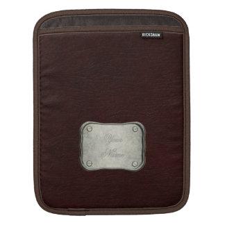 Red Leather Look iPad Sleeves
