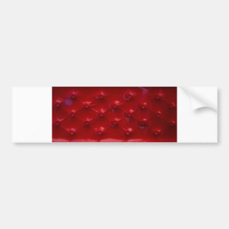 Red Leather Upholstery texture pattern elegant Bumper Sticker