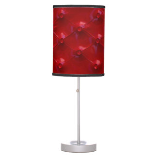 Red Leather Upholstery texture pattern elegant Table Lamp
