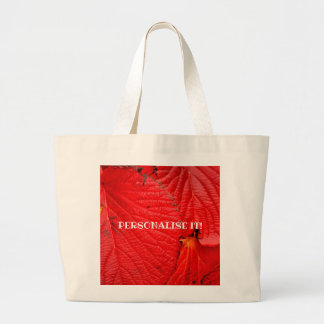 red leaves   Folhas vermelhas Large Tote Bag