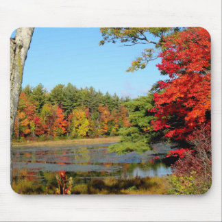 Red Leaves Mouse Pad
