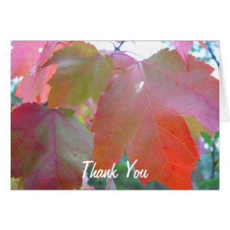Red Leaves Pastor Appreciation Leader Card