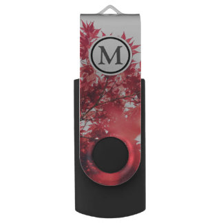 Red Leaves USB Flash Drive
