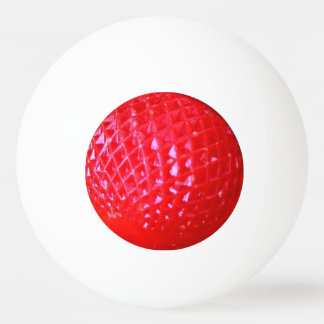 Red LED Christmas Light Bulb Ping Pong Ball
