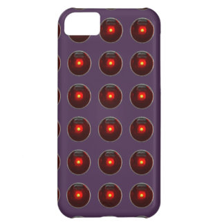 Red LED Polka Dots On Acai Violet Background iPhone 5C Case