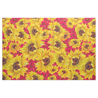 red leopard and yellow sunflower fabric