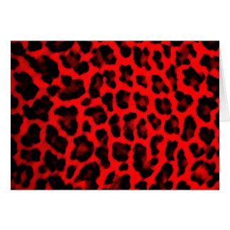 Red Leopard Print Card