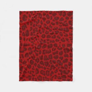 Red leopard print pattern fleece blanket