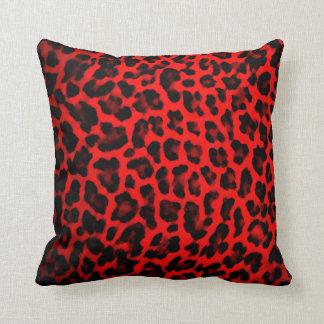 Red Leopard Print Pillow