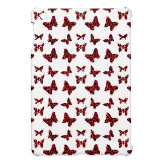 Red Leopard Spots Butterfly Pattern iPad Mini Cases