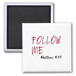 Red Letter Jesus Quote: Follow Me Bible Verse Magnet