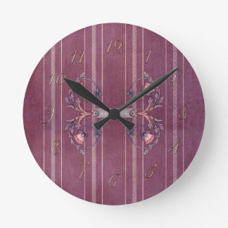 Red Liberty Upholstery Square Wall Clock