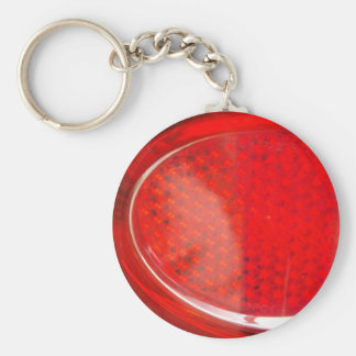 Red light abstract basic round button keychain